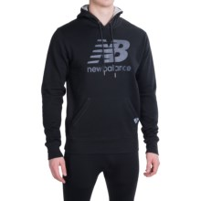 New Balance Essentials Plus Hoodie (For Men) in Black/Athletic Gray - Closeouts