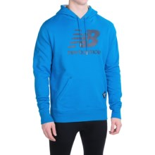 New Balance Essentials Plus Hoodie (For Men) in Bolt/Navy - Closeouts