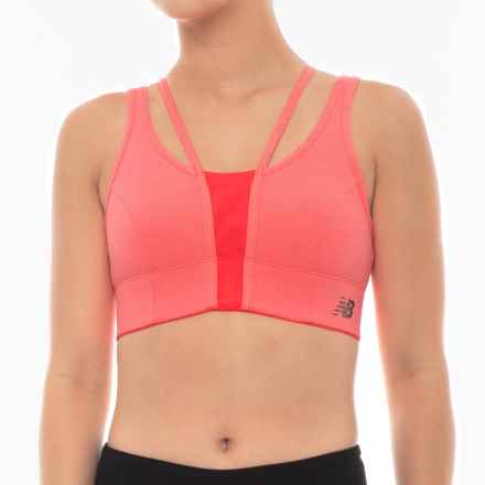 New Balance Evolve Crop Top - Sleeveless (For Women) in Vivid Coral - Closeouts