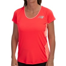 New Balance Excel Race Day Shirt - Short Sleeve (For Women) in Bright Cherry - Closeouts