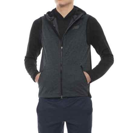 New Balance Fantom Force Vest - Hooded, Full Zip (For Men) in Black - Closeouts