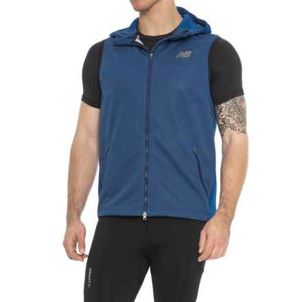 New Balance Fantom Force Vest - Hooded, Full Zip (For Men) in Team Royal - Closeouts