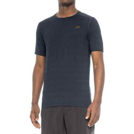 New Balance Fantom Shirt - Short Sleeve (For Men) in Black - Closeouts