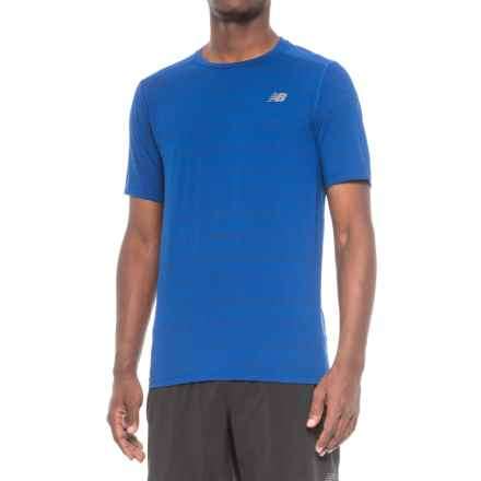 New Balance Fantom Shirt - Short Sleeve (For Men) in Blue - Closeouts