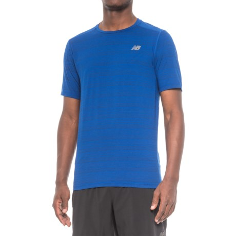 New Balance Fantom Shirt - Short Sleeve (For Men) in Blue