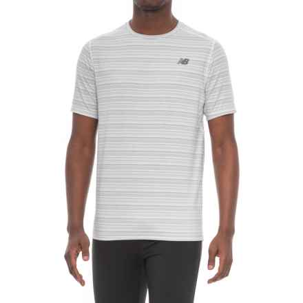 New Balance Fantom Shirt - Short Sleeve (For Men) in White - Closeouts
