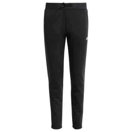 New Balance Fleece Joggers (For Big Girls) in Black - Closeouts