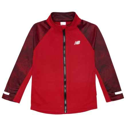 New Balance Fleece Zip-Up Jacket (For Little Boys) in Team Redfrozen - Closeouts