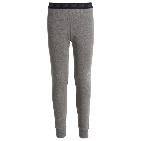New Balance French Terry Joggers (For Big Girls) in Grey Heather