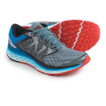 New Balance Fresh Foam 1080 Running Shoes (For Men) in Silver/Blue/Flame - Closeouts