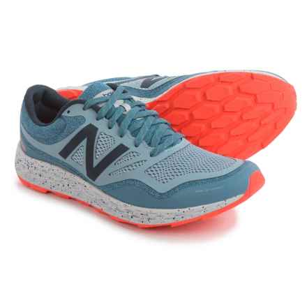 New Balance Fresh Foam Gobi Trail Running Shoes (For Men) in Dark Porcelain Blue/Alpha Orange - Closeouts