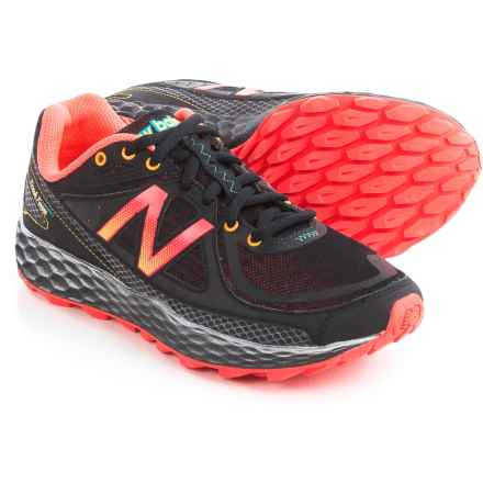 New Balance Fresh Foam Hierro Trail Running Shoes (For Women) in Black/Orange - Closeouts