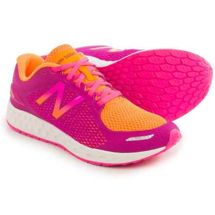 New Balance Fresh Foam Zante Running Shoes (For Little and Big Kids) in Orange/Pink - Closeouts