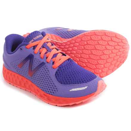 New Balance Fresh Foam Zante Running Shoes (For Little and Big Kids) in Purple/Orange - Closeouts