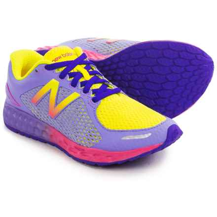 New Balance Fresh Foam Zante Running Shoes (For Little and Big Kids) in Yellow/Purple - Closeouts