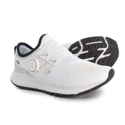 New Balance FuelCore Sonic Viz Pack Running Shoes (For Women) in White/Black/Gold - Closeouts