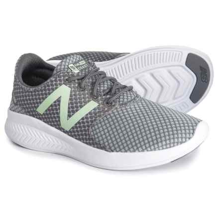 FuelCore V3 Running Shoes (For Girls) in Grey/Seafoam - Closeouts