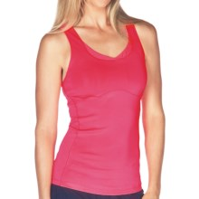 New Balance Get Back Racerback Tank Top - Built-In Shelf Bra (For Women) in Rasberry - Closeouts