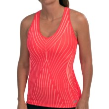 New Balance Get Back Tank Top - Built-In Shelf Bra, Racerback (For Women) in Bright Cherry - Closeouts