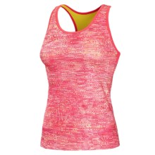 New Balance Get Back Tank Top - Built-In Shelf Bra, Racerback (For Women) in Watermelon W/ Ruby And Sunny Lime - Closeouts