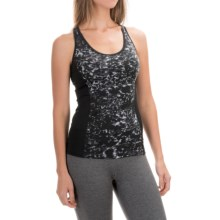 New Balance Get Back Tank Top - Built-In Sports Bra (For Women) in Black/Grey - Closeouts