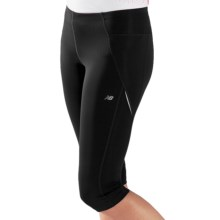 New Balance Go 2 Capris (For Women) in Black/Pink Shock - Closeouts