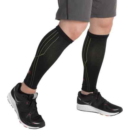 New Balance Graduated Compression Calf Sleeves (For Men) in Black - Closeouts