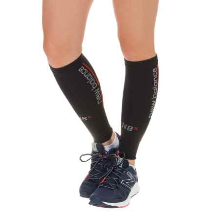 New Balance Graduated Compression Calf Sleeves (For Women) in Black - Closeouts