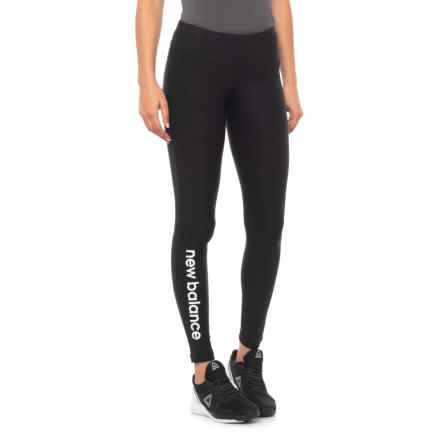 New Balance Graphic Modern Tights (For Women) in Black/White - Closeouts