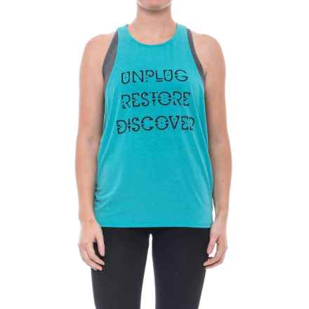 New Balance Graphic Muscle Tank Top (For Women) in Pisces Heather - Closeouts