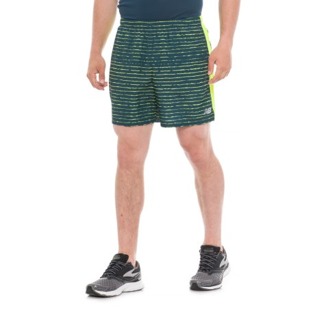 """New Balance Graphic Shorts - 5"""" (For Men) in North Sea"""