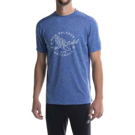 New Balance Graphic Tech T-Shirt - Short Sleeve (For Men) in Graphic Heather - Closeouts