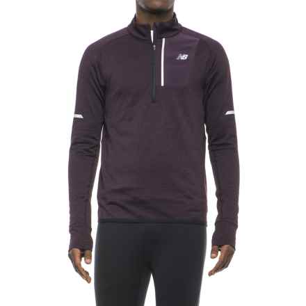 New Balance Heat Shirt - Zip Neck, Long Sleeve (For Men) in Black Rose Heather - Closeouts