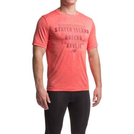 New Balance Heather Graphic T-Shirt - Crew Neck, Short Sleeve (For Men) in Atomic Heather - Closeouts
