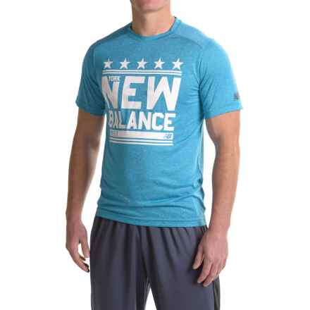 New Balance Heather Graphic T-Shirt - Crew Neck, Short Sleeve (For Men) in Barracuda Heather - Closeouts