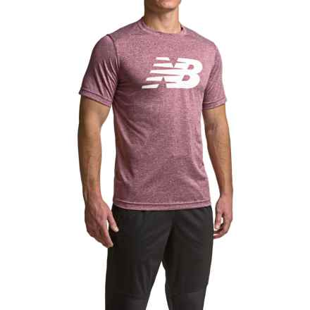 New Balance Heather Graphic T-Shirt - Crew Neck, Short Sleeve (For Men) in Sedona Heather - Closeouts