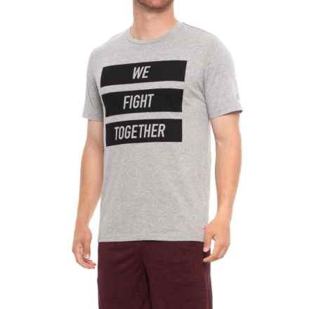 New Balance Heather Graphic T-Shirt - Short Sleeve (For Men) in Heather Charcoal - Closeouts