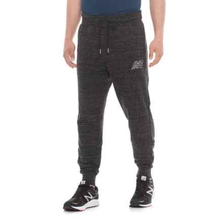 New Balance Heather Sweatpants (For Men) in Black Heather - Closeouts