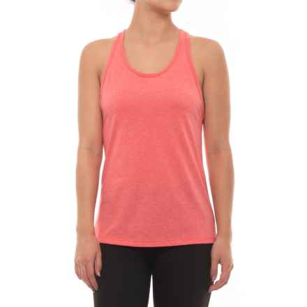 New Balance Heather Tech Racerback Tank Top (For Women) in Vivid Coral - Closeouts