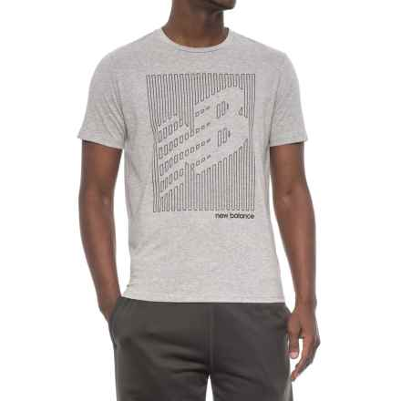 New Balance Heather Tech Shirt - Short Sleeve (For Men) in Athletic Grey - Closeouts