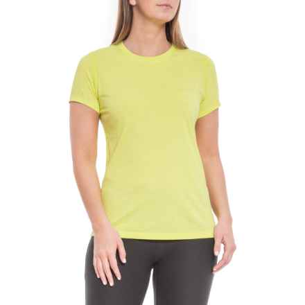 Heather Tech T-Shirt - Short Sleeve, Crew Neck (For Women) in Solar Yellow Heather - Closeouts