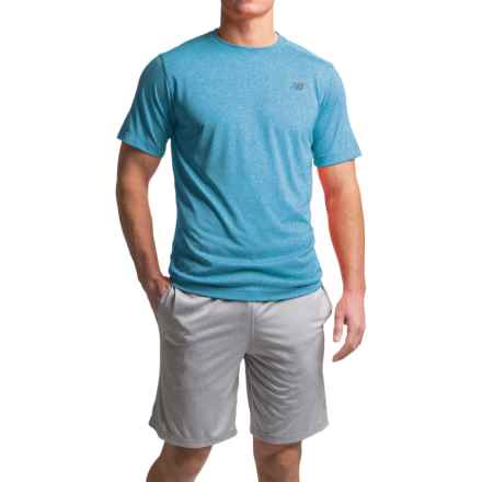New Balance Heather Tech T-Shirt - Short Sleeve (For Men) in Barracuda Heather - Closeouts