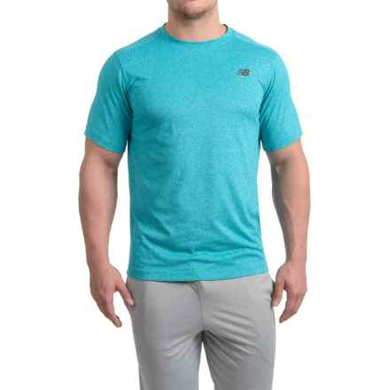 New Balance Heather Tech T-Shirt - Short Sleeve (For Men) in Dazzling Blue Heather - Closeouts