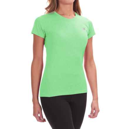 New Balance Heathered T-Shirt - Short Sleeve (For Women) in Agrave Heather - Closeouts