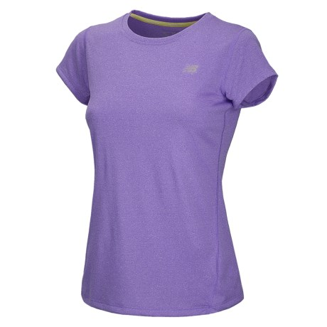 New Balance Heathered T-Shirt - Short Sleeve (For Women) in Amethyst