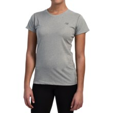 New Balance Heathered T-Shirt - Short Sleeve (For Women) in Athletic Grey - Closeouts