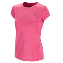 New Balance Heathered T-Shirt - Short Sleeve (For Women) in Diva Pink - Closeouts