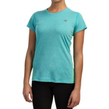 New Balance Heathered T-Shirt - Short Sleeve (For Women) in Sea Glass Heather - Closeouts