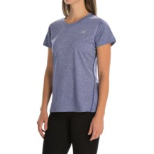 New Balance Heathered T-Shirt - Short Sleeve (For Women) in Titan Heather - Closeouts