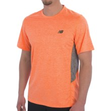New Balance Heathered Training T-Shirt - Short Sleeve (For Men) in Bold Citrus Heather - Closeouts